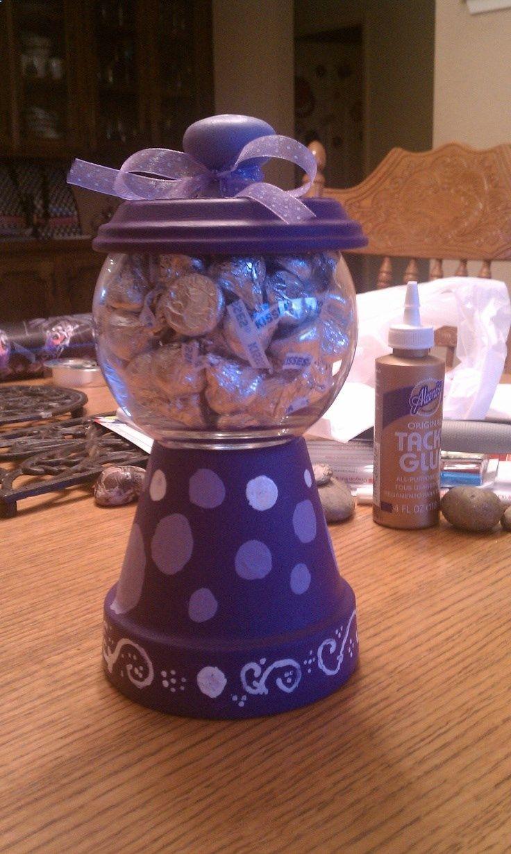 Terra Cotta Pot Candy Jar