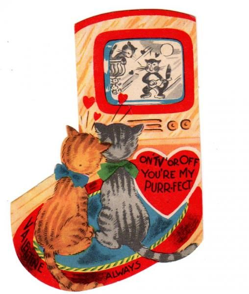 Isn't this a true Kat card?! Vintage valentine's cards - Google Search