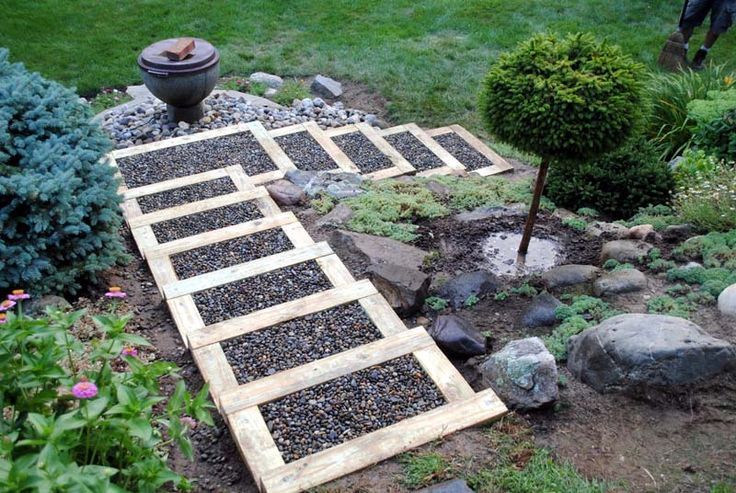 Garden steps on a budget. Great to go beside boat ramp.