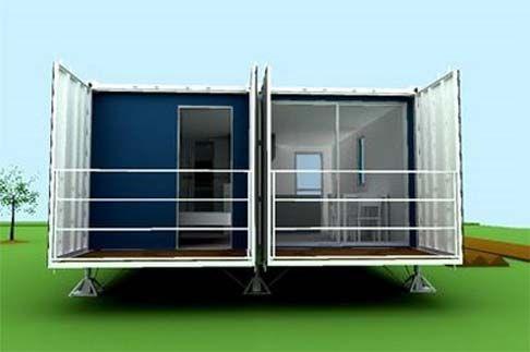 Super casa hecha con contenedores maritimos estilo - Diseno de casas con contenedores ...