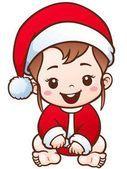 Personaje de dibujos animados de bebé Ilustración De Stock