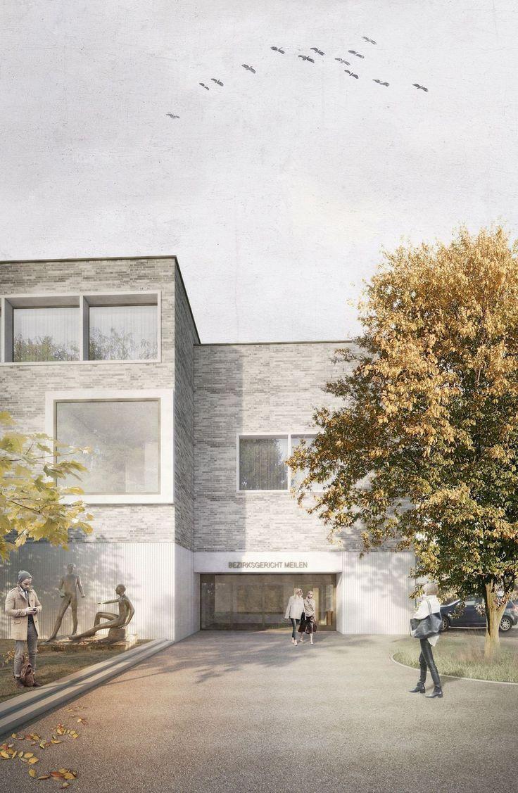 raumfindung Architekten . District Court Extension . Meilen (1)