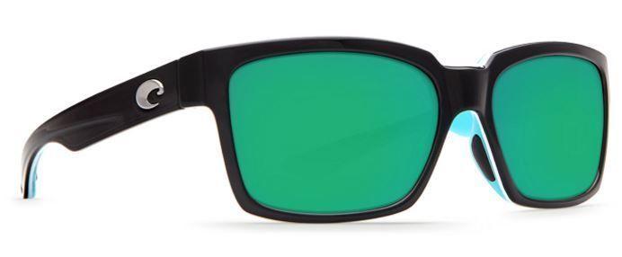 COSTA DEL MAR PLAYA POLARIZED SUNGLASSES PY87 OGMGLP BLACK/GREEN 580G GLASS