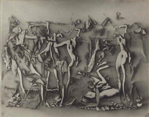 RAOUL UBAC (1910-1995) Penthésilée, 1938   Penthésilée, 1938 tirage argentique solarisé image 18 x 25.6 cm. (7 1/8 x 10 in.)  Price realised EUR 22,500    Christies;Shalom Shpilman vendue au profit du Shpilman Institute for Photography  13 - 20 November 2015, Paris