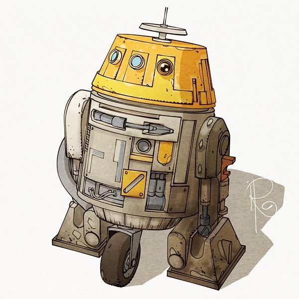 "Star Wars Rebels - C1-10P ""Chopper"" by Ingo Römling"