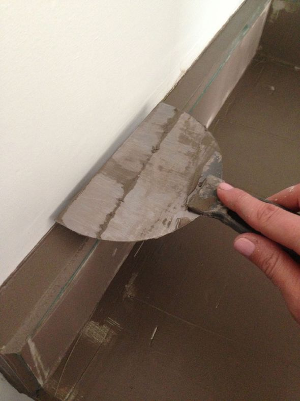 concrete overlay for laminate counters (or floors?) - genius!