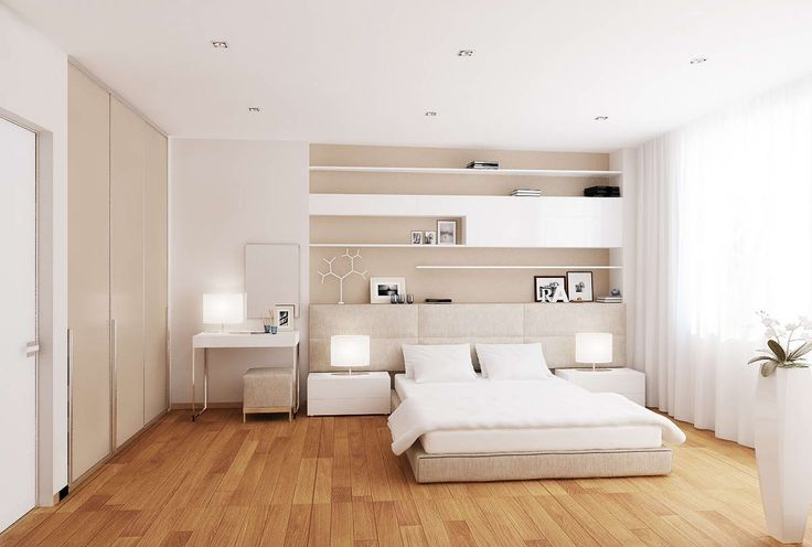 Bedroom:Simple White Modern Bedroom Design Ideas With White Modern Bedsheet And Rectangle White Nightstand Combine Drum Shape White Table Lamp Plus Textured Wood Floor Master Modern White Bedroom Decor Ideas