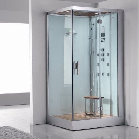 ariel platinum dz959f8 white steam shower r side drain - Luxury Steam Showers
