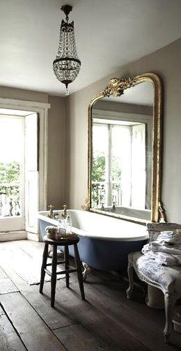 Salle de bain chic et rétro