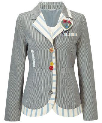 LJ196 - Tremendous Ticking Jacket - Tremendous Ticking Jacket, Coats and Jackets, Women's Clothing, Clothing, Accessories, Joe Browns