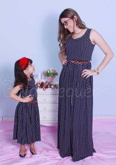 Vestidos Tal Mãe Tal Filha Azul Marinho