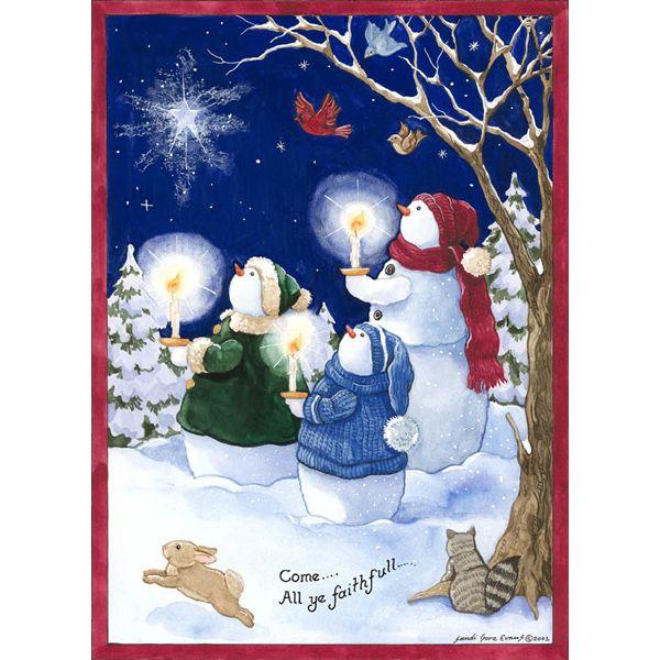 Sandi Gore Evans Christmas 4 SnowmenampFriends