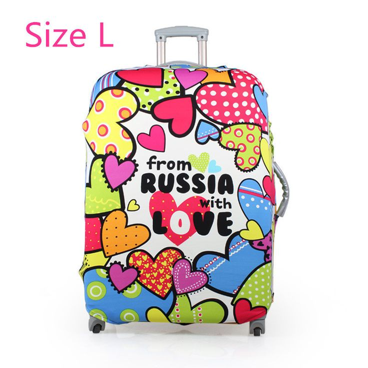 shipping printed elastic polyester travel luggage cover for 20-32inch suitcase Protective Cover Travel Trunk Dirt-Proof