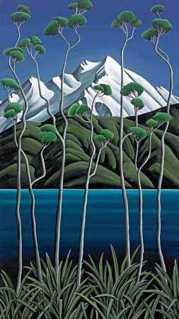 Westland Kahikatea Canvas Art Print by Diana Adams for Sale - New Zealand Art Prints