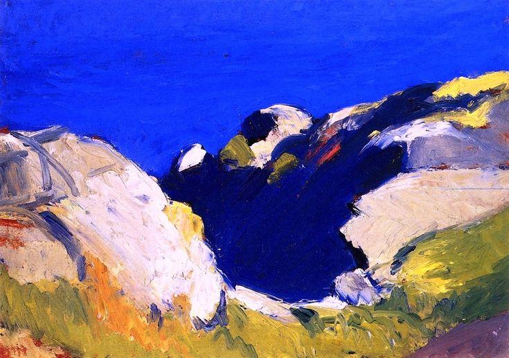 Rocks and Sea - Edward Hopper - 1916-1919