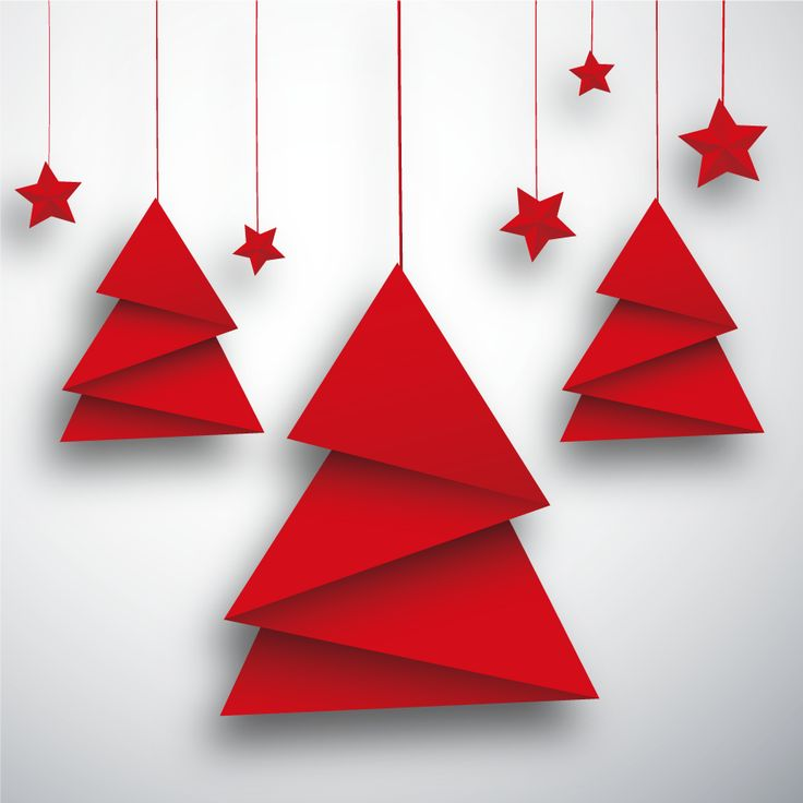 Гриб своими, открытка к новому году из оригами