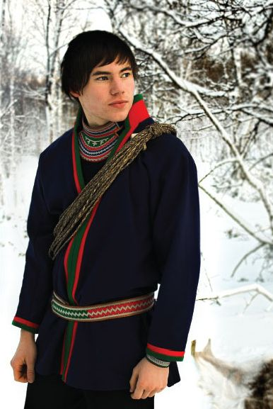 SAMI |  a young Southern Saami man in traditional garb. Southern Sápmi Region, Sweden