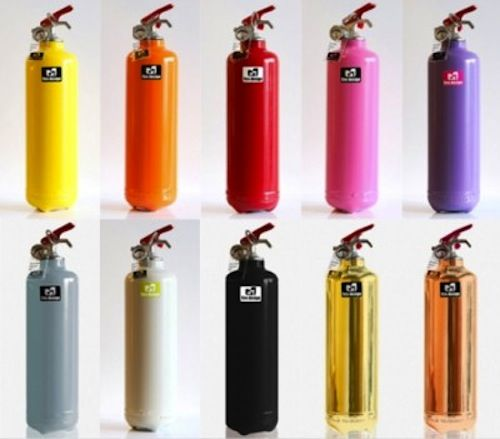 French creative studio Fire Design has given a series of fire extinguishers a complete makeover—till they don't resemble one anymore.