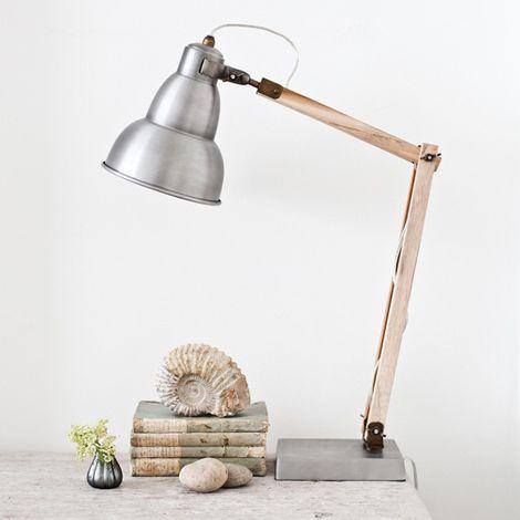 Industrial Wooden Desk Lamp Inspiration