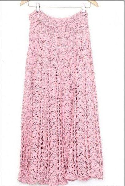 Mis Pasatiempos Amo el Crochet: Falda larga