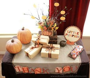 Planning a fall baby shower? We think this baby shower idea is just perfect for your little pumpkin!