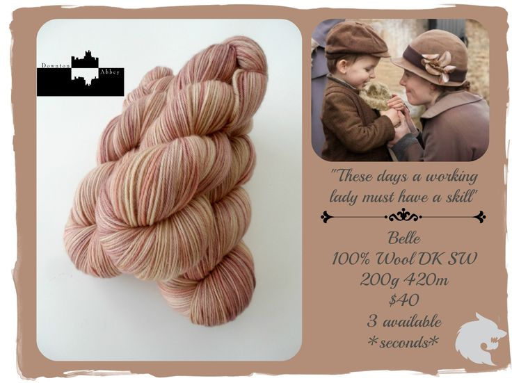 These days a working lady must have a skill - Downton Abbey Downstairs / Red Riding Hood Yarns