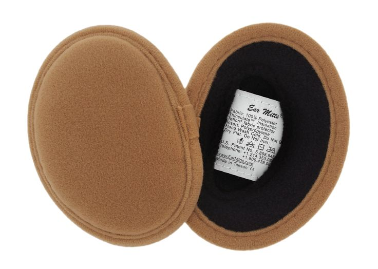 Faux Suede Ear Mitts Bandless Ear Muffs 100g Thinsulate™ Insulation & DuPont™ Teflon® (Camel or Suede – 2 Sizes) (Small, Camel). Slip-on bandless Ear Mitts fit comfortably and securely while preserving your hairstyle or can be worn under any headgear!. Three layers of durable faux suede, soft thermal fleece, and 100 gram thinsulate insulation from 3M will keep your ears toasty and warm. Durable patented frame made from polypropylene that adjusts to your ears for the perfect fit. Protected...