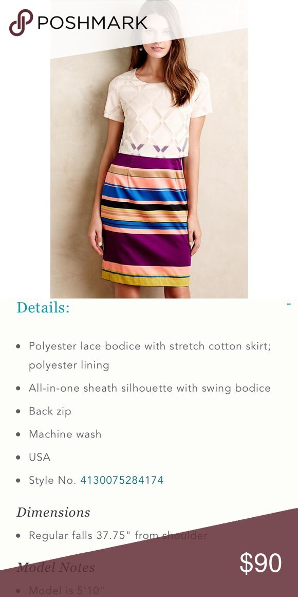 NEW Anthropologie Carolina Dress New with tags, so cute!!  By: Weston.  Color: Plum/Prune.  Size 10. Anthropologie Dresses