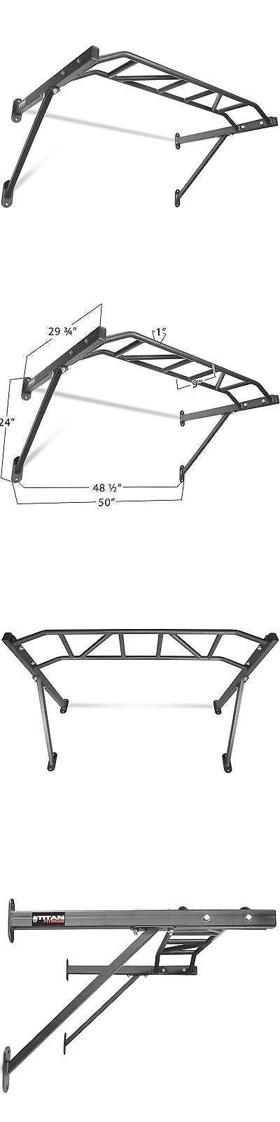 Pull Up Bars 179816: Titan Fitness Hd Multi Grip Wall Mounted Pull Up Bar Chin Up Steel 48 Wide Grip -> BUY IT NOW ONLY: $70 on eBay!