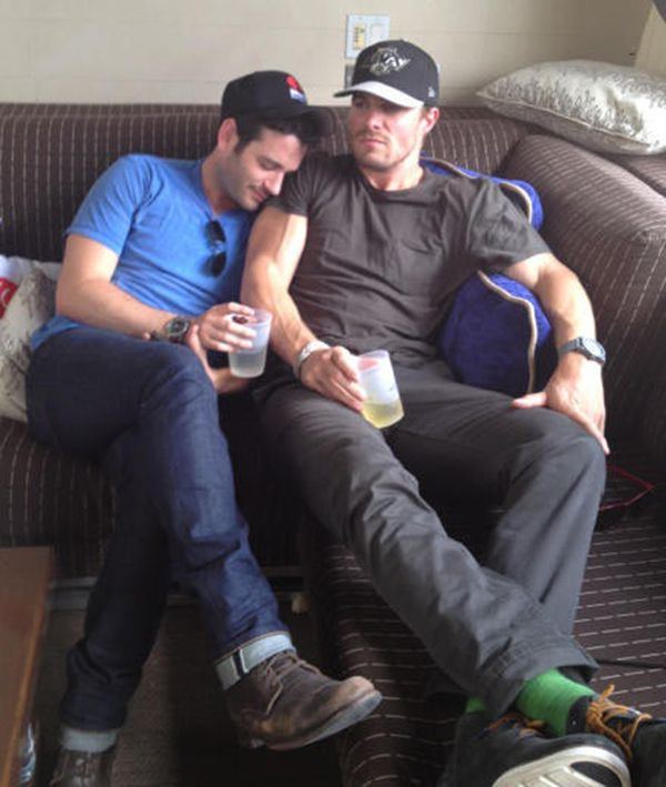 Donnell aka oliver queen and tommy merlyn such a beautiful bromance