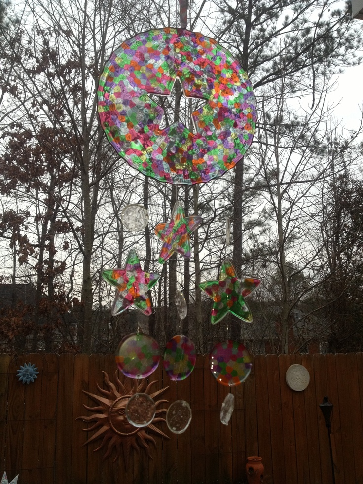 how to make suncatchers with melted glass beads