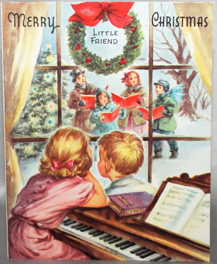 Christmas Carol Singers Decorations: Old Fashioned Christmas: Cards
