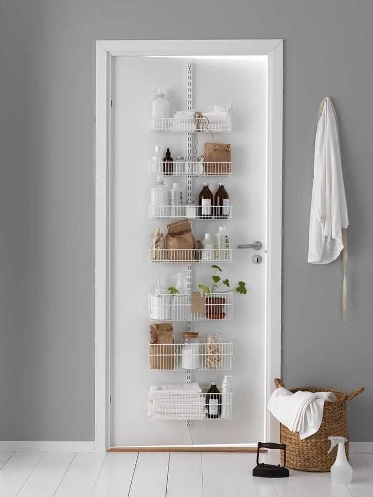 Best 25 Behind Door Storage Ideas On Pinterest  Spice Rack Delectable Small Space Storage Ideas Bathroom Review