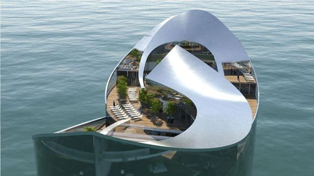 Floating hotel - Sigge Architects. Turku, Finland.