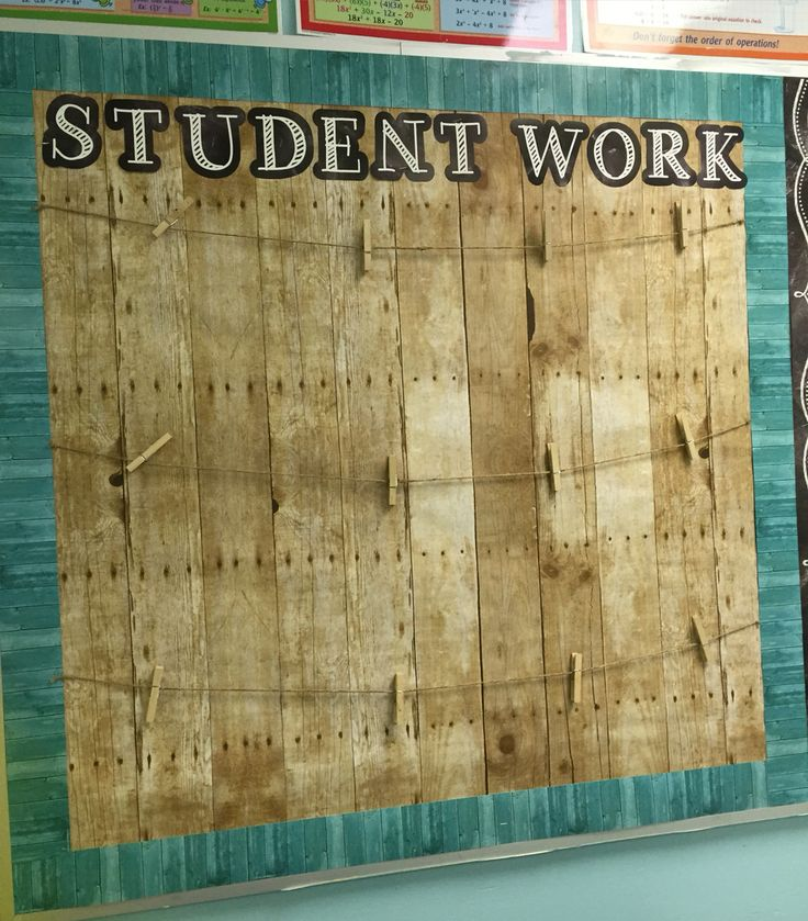 Shabby chic student work bulletin board