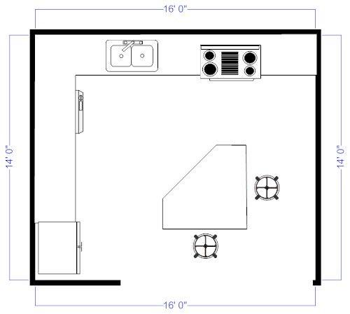 38 best kitchen floor plans images on pinterest