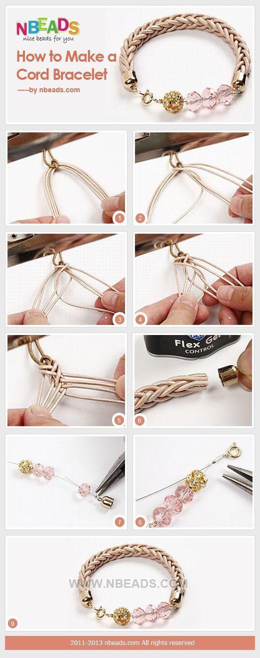 How to Make A Cord Bracelet – Nbeads