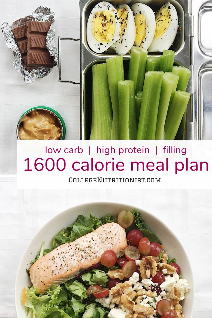 1600 Calorie Filling, Low Carb Meal Plan With Salmon And