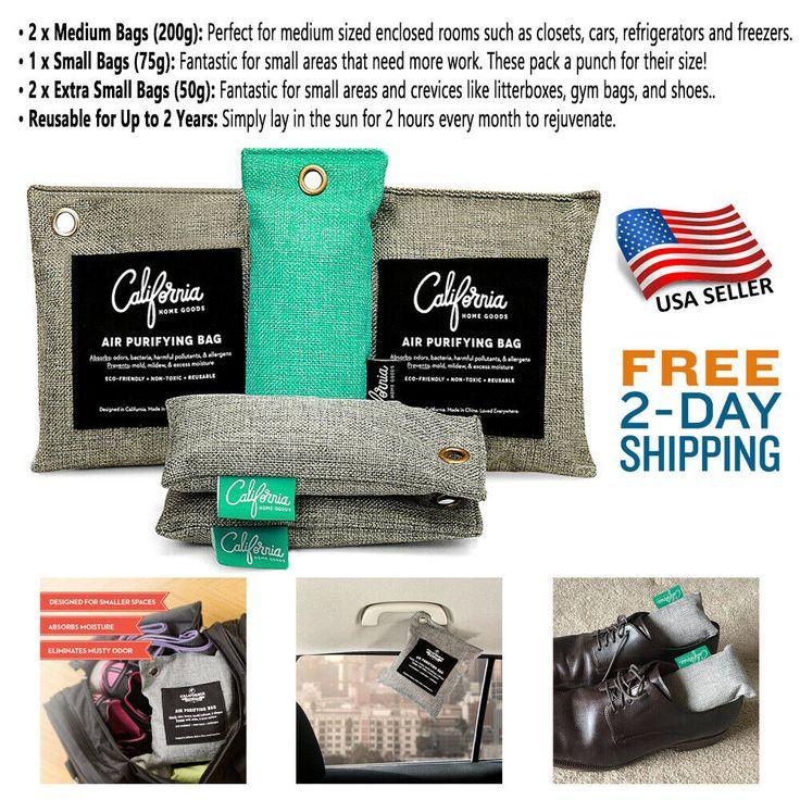 Car Air Purifier Bamboo Charcoal Air Purifying Bag Natural