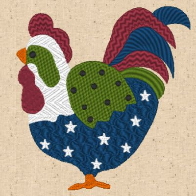 Free Rooster 3 Design from CinDes designs is ready for you to download, they just keep getting more and more cute.