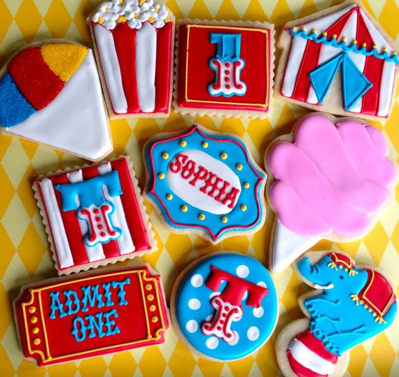 Circus Carnival Collection Sugar Cookies                                                                                                                                                                                 More