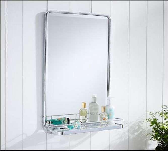 Outstanding Chrome Bathroom Mirror With Shelf Simple Home Interior Interior Design Ideas Ghosoteloinfo