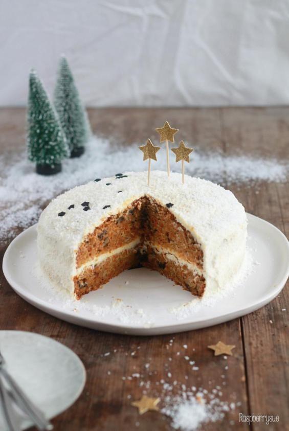 Kürbis-Walnuss-Kuchen mit Mascarponecreme