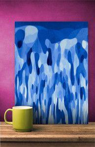 I N D I G O by Miri Mo   @Displate #displate #wallart #abstract #indigo #homedecor