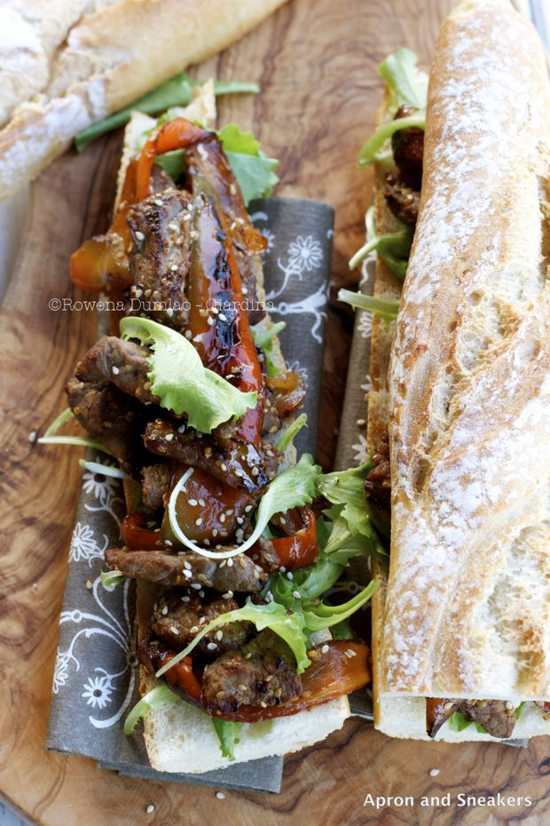 Apron and Sneakers - Cooking & Traveling in Italy and Beyond: Panino con Fettine di Bistecca e Peperoni ( Beefsteak Slices & Pepper Sandwich)