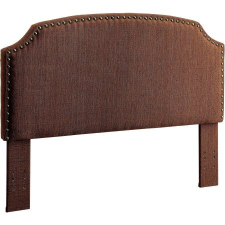 Furniture of America Nalyssa King Padded Fabric Headboard, Multiple Colors, Brown