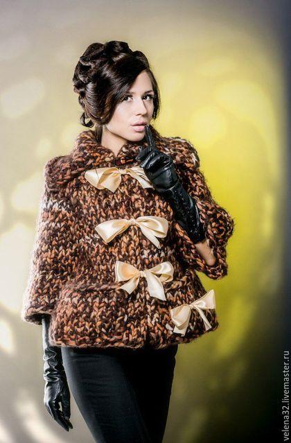 """Knitted jacket / Пиджаки, жакеты ручной работы. Ярмарка Мастеров - ручная работа. Купить Жакет """"Алина"""". Handmade. Разноцветный, рукав реглан"""