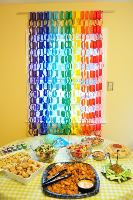 Rainbow Birthday Party- A Wedding Story: Avery's First Birthday Part 1