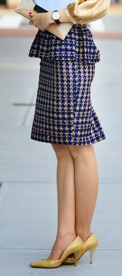 houndstooth peplum pencil skirt http://rstyle.me/n/vcjmapdpe
