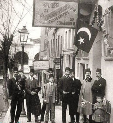 Late-Ottoman urban men's clothing.  Istanbul, 1910.